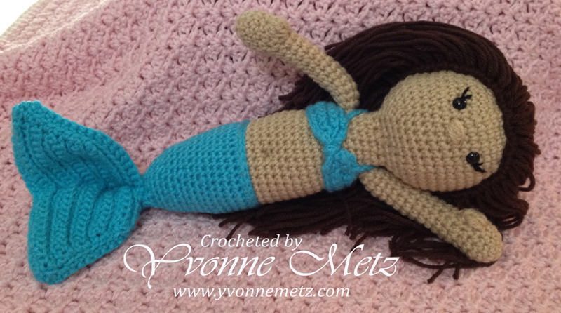 Crocheted Mermaid Dolls Yvonne Metz