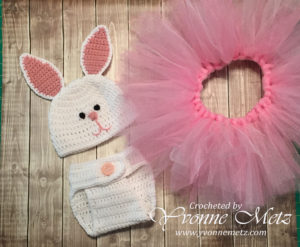 Bunny Hat Diaper Cover Front