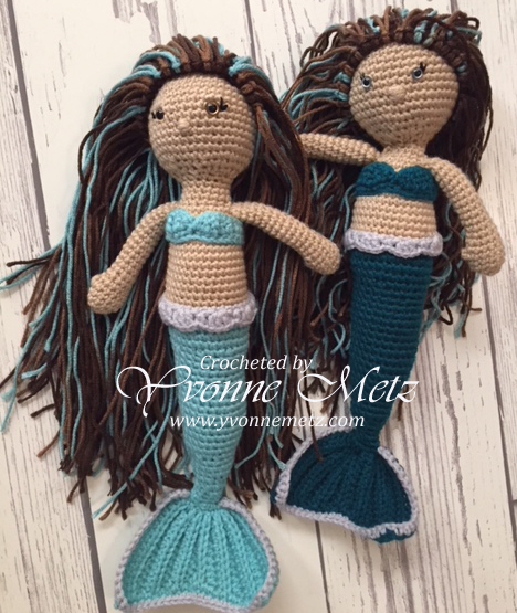 Free Mermaid Crochet A Long Yvonne Metz